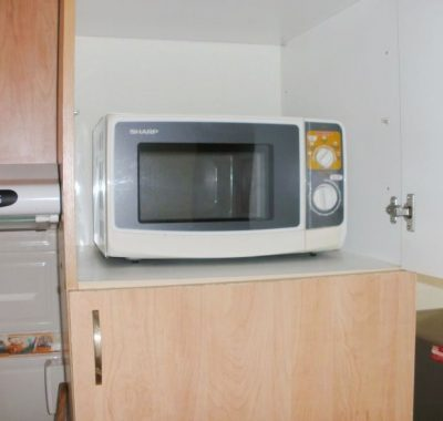 Rental with microwave