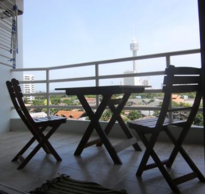 Condo rental with large balcony